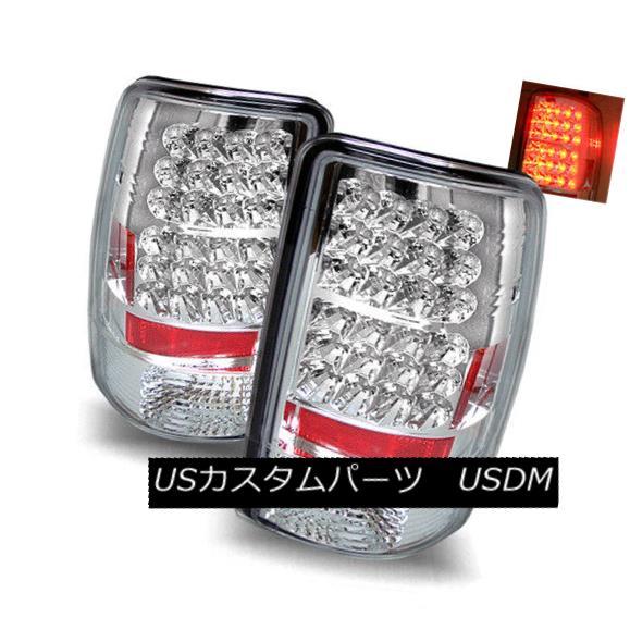 テールライト For 00-06 GMC Yukon/XL/Denali Chrome Left+Right LED Tail Lights Rear Brake Lamps 00-06 GMC Yukon / XL / Denali i Chrome Left + Right LEDテールライトリアブレーキランプ