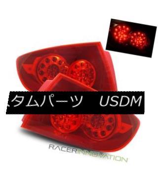 テールライト For 04-06 Mazda 3 4DR Sedan Euro Red Clear LED Tail Lights Rear Brake Lamps 04-06マツダ3 4DRセダンユーロレッドクリアLEDテールライトリアブレーキランプ