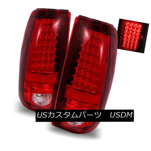 テールライト For 99-02 Silverado/99-03 Sierra Red Clear LH+RH LED Tail Lights Rear Brake Lamp 99-02 Silverado / 99-0 3 Sierra Red Clear LH + RH LEDテールライトリアブレーキランプ