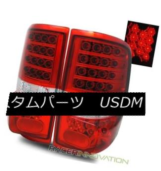 テールライト For 04-08 Ford F150 Styleside Euro Red Clear LED Tail Lights Rear Brake Lamps 04-08 Ford F150 StylesideユーロレッドクリアLEDテールライトリアブレーキランプ