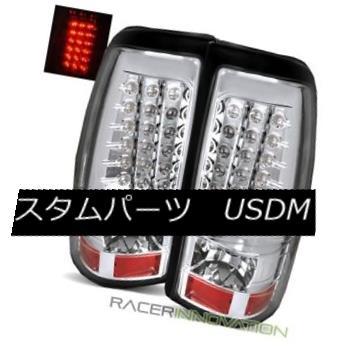 テールライト For 99-02 Chevy Silverado Fleetside Chrome LED Tail Lights Rear Brake Lamps 99-02 Chevy Silverado FleetsideクロームLEDテールライトリアブレーキランプ