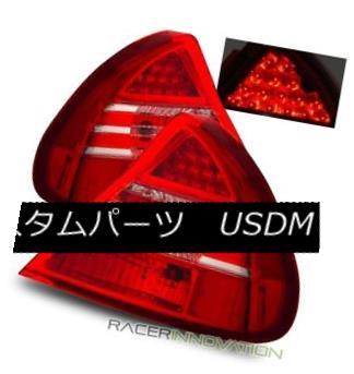 テールライト For 99-02 Mitsubishi Mirage DE/LS Euro Red Clear LED Tail Lights Rear Brake Lamp 99-02三菱ミラージュDE / LSユーロレッドクリアLEDテールライトリアブレーキランプ