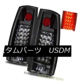 テールライト 88-98 C10 C/K Full Size/Tahoe/92-94 Blazer/99-00 Escalade Black LED Tail Lights 88-98 C10 C / Kフルサイズ/タホ/ 92- 94ブレイザー/ 99-00エスカレードブラックLEDテールライト