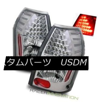 テールライト For 05-07 Dodge Magnum Euro Chrome Clear LED Tail Lights Rear Brake Lamps 05-07ダッジマグナムユーロクロームクリアLEDテールライトリアブレーキランプ