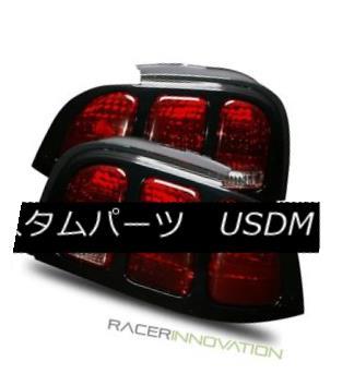 テールライト For 94-98 Ford Mustang Red Smoke/Black Trim Cover Tail Lights Rear Brake Lamps 94-98 Ford Mustangレッド・スモーク/ブラック・トリム・カバーテール・ライトリア・ブレーキ・ランプ