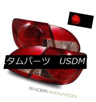 テールライト For 03-08 Toyota Corolla Euro Red Clear LED Tail Lights Rear Brake Lamps 03-08トヨタカローラユーロレッドクリアLEDテールライトリアブレーキランプ