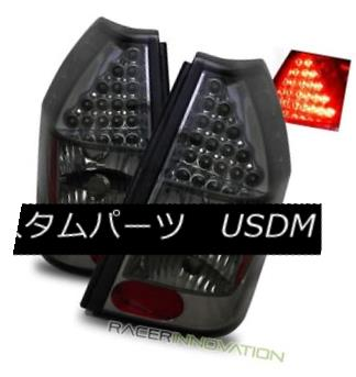 テールライト For 05-07 Dodge Magnum Smoked Tinted LED Tail Lights Rear Brake Lamps 05-07ダッジマグナムスモークティンテッドLEDテールライトリアブレーキランプ