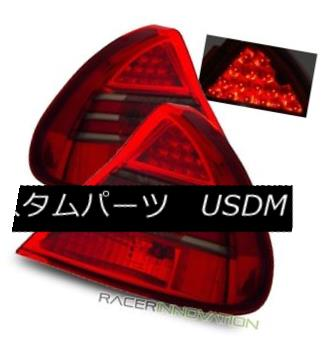 テールライト For 99-02 Mitsubishi Mirage DE/LS Euro Red Smoke LED Tail Lights Rear Brake Lamp 99-02用三菱ミラージュDE / LSユーロレッドスモークLEDテールライトリアブレーキランプ
