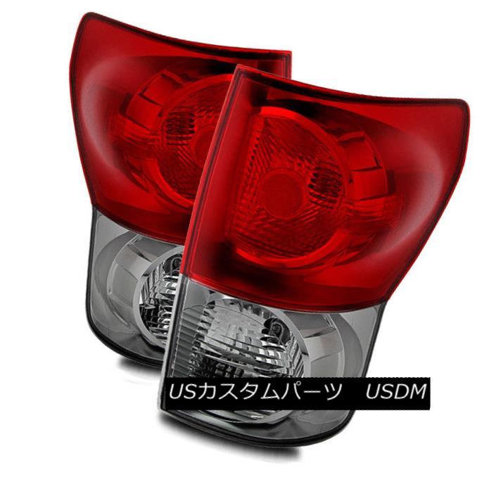 テールライト For 07-09 Toyota Tundra Red Clear Left/Right Tail Lights Rear Brake Lamps Set 07-09トヨタトンドラレッドクリア左/右テールライトリアブレーキランプセット