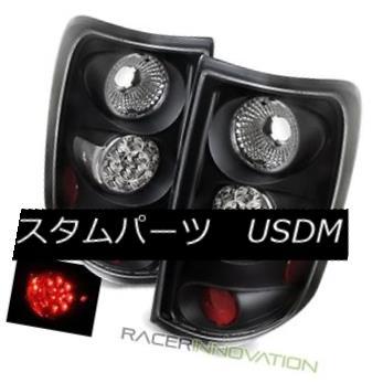 テールライト For 04-08 Ford F150 Styleside Black LED Tail Lights Rear Brake Lamps 04-08 Ford F150 StylesideブラックLEDテールライトリアブレーキランプ