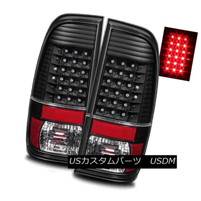 テールライト For 08-16 Ford F250/F350/F450 Super Duty Black LH/RH LED Tail Lights Brake Lamps 08-16 Ford F250 / F350 / F450スーパーDutyブラックLH / RH LEDテールライトブレーキランプ用