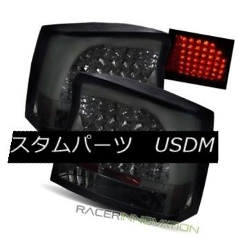 テールライト For 06-08 Dodge Charger Smoke LED Tail Lights Rear Brake Lamps 06-08ダッジ充電器の煙LEDテールライトリアブレーキランプ