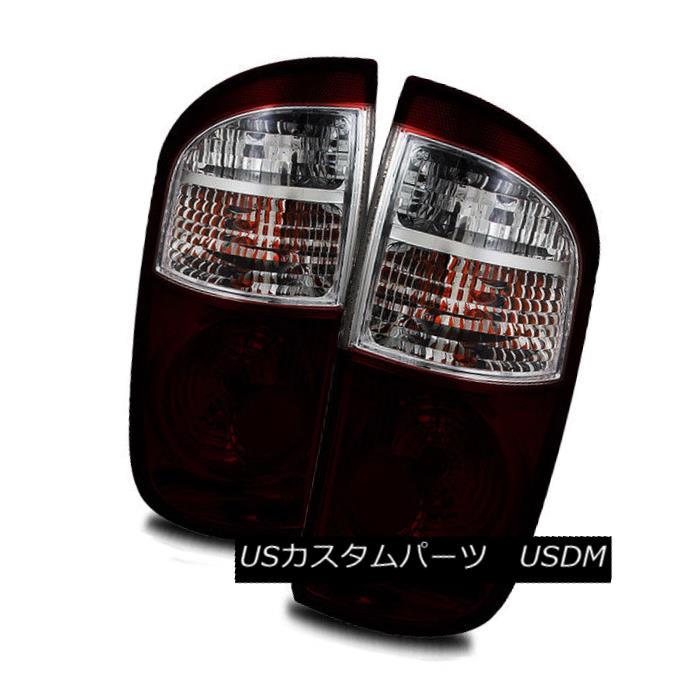 テールライト For For Tail 04-06 Toyota Tundra Double Cab/ Dark Red/Clear LH/RH Tail Lights Brake Lamps 04-06用トヨタツンドラダブルキャブダークレッド/クリアLH/ RHテールライトブレーキランプ, SHoT3:01dadae4 --- officewill.xsrv.jp