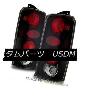 テールライト For 97-01 Jeep Cherokee Euro Black Altezza Tail Lights Rear Brake Lamps 97-01ジープチェロキーユーロブラックAltezzaテールライトリアブレーキランプ