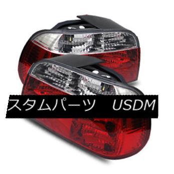 テールライト For 95-01 BMW E38 740i/740iL/750i Red Clear LH/RH Tail Lights Rear Brake Lamps 95-01用BMW E38 740i / 740iL / 750 i赤色クリアLH / RHテールライトリアブレーキランプ