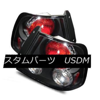 テールライト For 00-02 Accent Hatchabck Black Left+Right Altezza Tail Lights Rear Brake Lamps 00-02用アクセントハッチバックブラック左+右Altezzaテールライトリアブレーキランプ