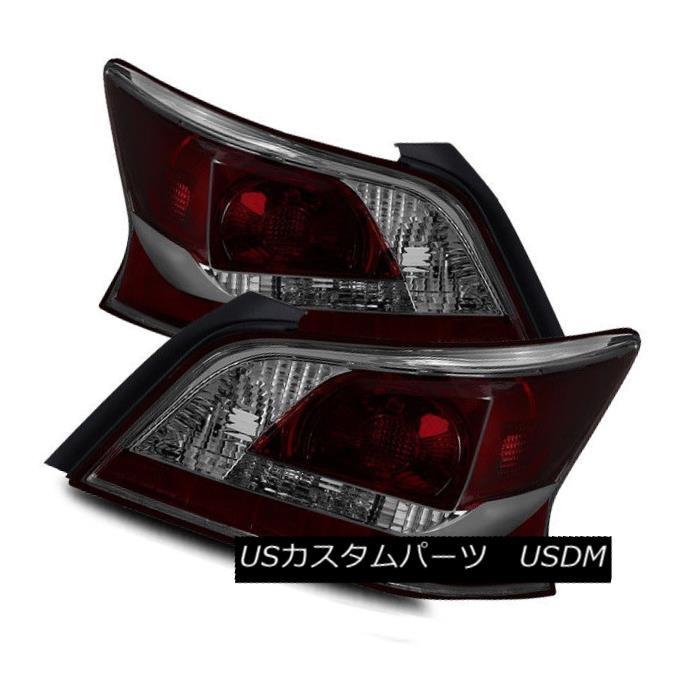 テールライト For 13-15 Nissan Altima Sedan Dark Red/Smoke LH/RH Tail Lights Rear Brake Lamps 13-15日産アルティマセダンダークレッド/スモークLH / RHテールライトリアブレーキランプ