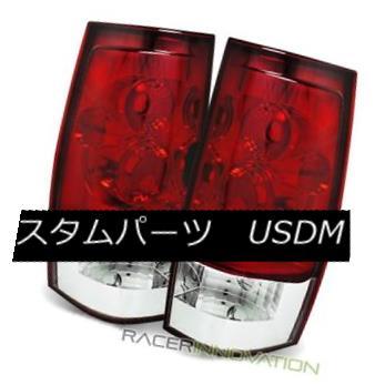 テールライト For 07-14 GMC Yukon/Yukon XL Euro Red Clear Tail Lights Rear Brake Lamps 07-14 GMCユーコン/ユーコンXLユーロレッドクリアテールライトリアブレーキランプ