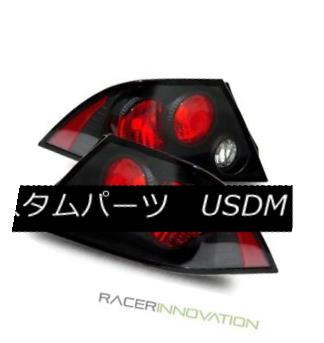 テールライト For 02-03 Mitsubishi Lancer LS/ES/OZ Black Altezza Tail Lights Brake Lamps 02-03三菱ランサーLS / ES / OZ用ブラックAltezzaテールライトブレーキランプ