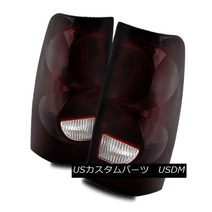 テールライト For 03-06 Silverado/04-06 Sierra Dark Red/Clear LH/RH Tail Lights Brake Lamps 03-06 Silverado / 04-0 6シエラダークレッド/クリアLH / RHテールライトブレーキランプ