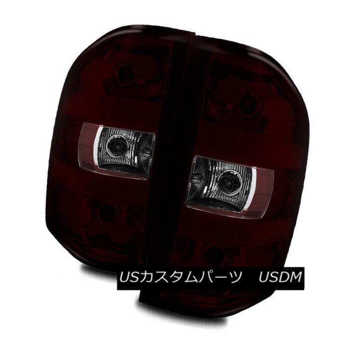 テールライト For 07-13 Silverado/07-14 2500HD/3500HD Dark Red/Clear Tail Lights Brake Lamps 07-13シルバラード/ 07-1 4 2500HD / 3500HDダークレッド/クリアテールライトブレーキランプ