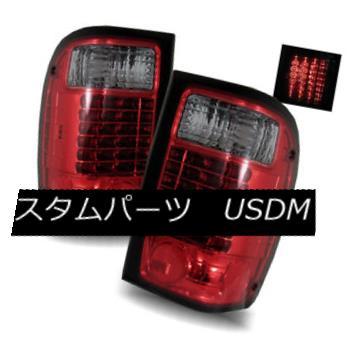 テールライト For 98-01 Ford Ranger Red Smoke Left/Right LED Tail Lights Rear Brake Lamps 98-01用フォードレンジャーレッドスモーク左/右LEDテールライトリアブレーキランプ