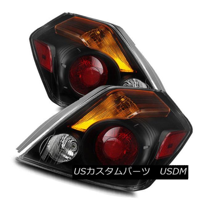テールライト For 07-12 Nissan Altima Sedan Black/Amber LH/RH LED Tail Lights Rear Brake Lamps 07-12日産アルティマセダンブラック/アンバーLH / RH LEDテールライトリアブレーキランプ