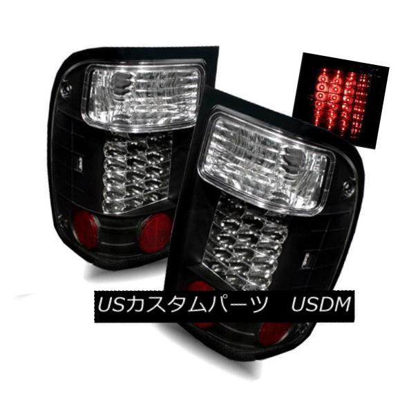 テールライト For 98-01 Ford Ranger Black LH/RH LED Tail Lights Rear Brake Lamps Replacement 98-01用フォードレンジャーブラックLH / RH LEDテールライトリアブレーキランプ交換