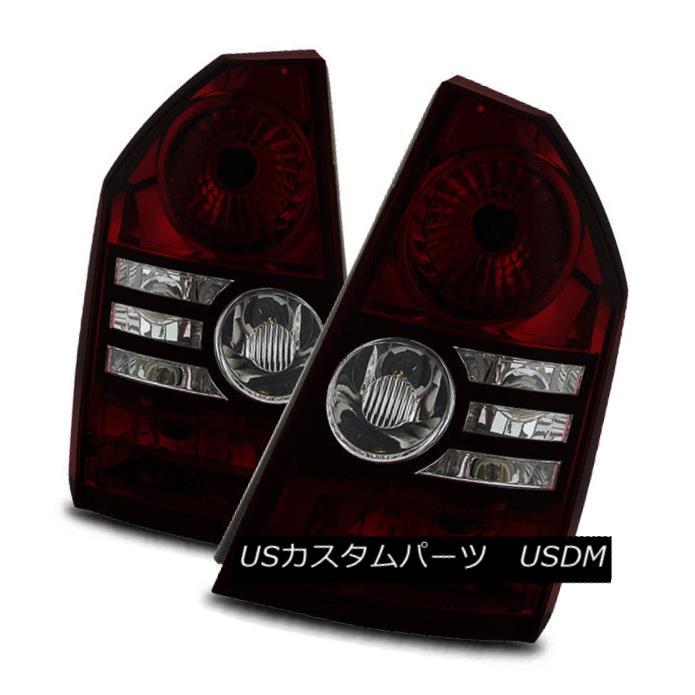 テールライト For 08-10 Chrysler 300 Base/Touring Black Smoke Tail Lights Rear Brake Lamps Set 08-10クライスラー300ベース/ツーリングブラックスモークテールライトリアブレーキランプセット