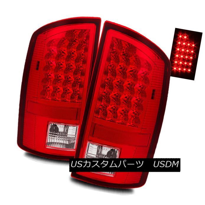 テールライト For 07-08 Dodge Ram 1500/07-09 2500/3500 Red Clear LED Tail Lights Brake Lamps 07-08 Dodge Ram 1500 / 07-09 2500/3500レッドクリアLEDテールライトブレーキランプ