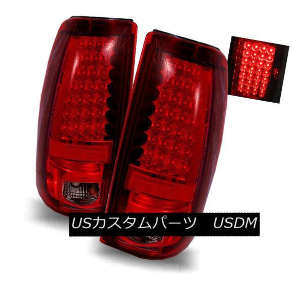 テールライト For 03-06 Chevy Silverado/04-06 GMC Sierra Red Smoke LED Tail Lights Brake Lamps 03-06 Chevy Silverado / 04-0 6 GMC Sierra Red煙LEDテールライトブレーキランプ