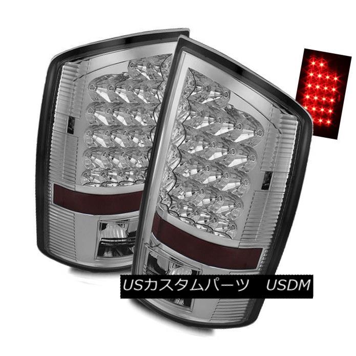 テールライト For 02-06 Dodge Ram 1500/03-06 2500/3500 Chrome LED Tail Lights Rear Brake Lamps 02-06 Dodge Ram 1500 / 03-06 2500/3500クロームLEDテールライトリアブレーキランプ