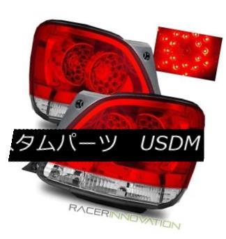 テールライト For 98-05 Lexus GS300/GS400/GS330 Euro Red Clear LED Tail Lights Rear Brake Lamp 98-05レクサスGS300 / GS400 / GS 330ユーロレッドクリアLEDテールライトリアブレーキランプ