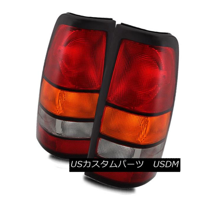 テールライト For 04-07 GMC Sierra Red/Amber/Clear Left/Right Tail Lights Rear Brake Lamps Set 04-07 GMC Sierra Red / Amber / Clea r左右テールランプ後部ブレーキランプセット
