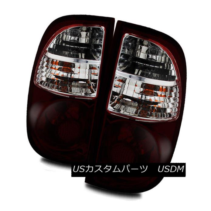 テールライト For 05-06 Toyota Tundra Regular Cab/Access Cab Dark Red/Clear Tail Lights Lamps 05-06用Toyota Tundraレギュラーキャブ/アクセスキャブダークレッド/クリアテールライトランプ
