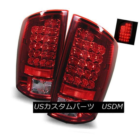 テールライト For 02-06 Dodge Ram 1500/2500/3500 Red Clear LH+RH LED Tail Lights Brake Lamps 02-06 Dodge Ram 1500/2500/3500レッドクリアLH + RH LEDテールライトブレーキランプ