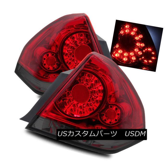 テールライト For 06-13 Chevy Impala/14-16 Limited Red Smoke LH/RH LED Tail Lights Brake Lamps 06-13シボレーインパラ/ 14-16限定赤煙LH / RH LEDテールライトブレーキランプ