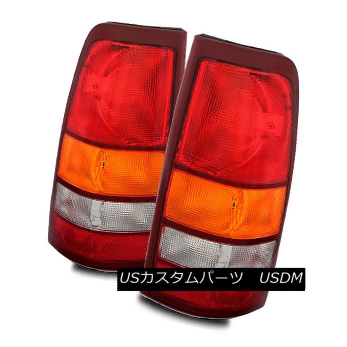 テールライト For 99-02 Chevy Silverado/99-03 GMC Sierra Red/Amber/Clear Tail Lights Lamps Set 99-02 Chevy Silverado / 99-0 3 GMC Sierra Red / Amber / Clea rテールライトランプセット