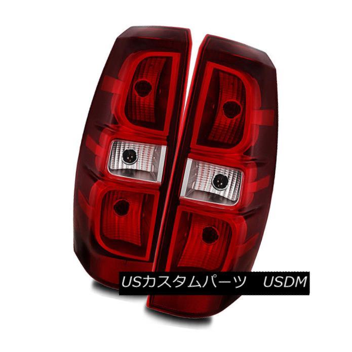 テールライト For 07-13 Chevy Avalanche Red Clear Left/Right Tail Lights Rear Brake Lamps Set 07-13シボレーアバランシェレッドクリア左/右テールライトリアブレーキランプセット