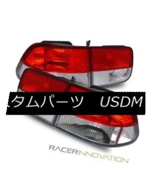 テールライト For 96-00 Honda Civic EK 2DR Coupe Euro Red Crystal Tail Lights Brake Lamps 96-00ホンダシビックEK 2DRクーペユーロレッドクリスタルテールライトブレーキランプ