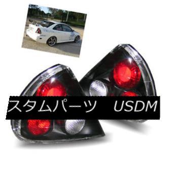 テールライト For 95-98 Mitsubishi Mirage Black LH+RH Altezza Tail Lights Rear Brake Lamps 95-98用三菱ミラージュブラックLH + RH Altezzaテールライトリアブレーキランプ