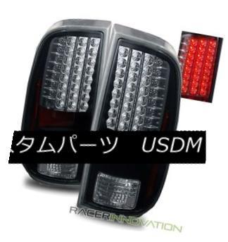 テールライト For 08-12 Ford F250/F350/F450 Super Duty Black LED Tail Lights Brake Lamps 08-12フォードF250 / F350 / F450スーパーデューティブラックLEDテールライトブレーキランプ用
