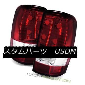 テールライト For 00-06 Chevy Tahoe Euro Red Clear Tail Lights Rear Brake Lamps 00-06 Chevy Tahoeユーロレッドクリアテールライトリアブレーキランプ