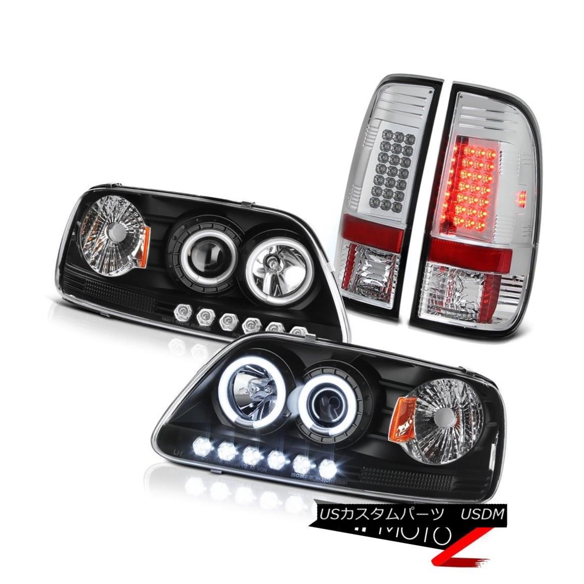 テールライト F150 XL 1999 2000 2001 Halo Rim CCFL Headlamps SMD Rear Tail Lights Brightest F150 XL 1999 2000 2001 Halo Rim CCFLヘッドランプSMDリアテールライト