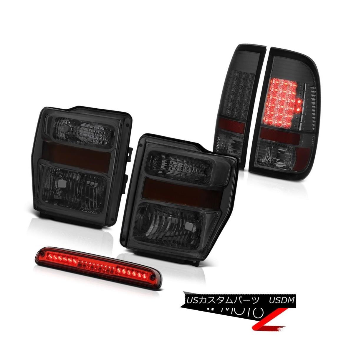 テールライト 2008-2010 F250 FX4 Left Right Smoke Headlights LED Tail Lights Third Brake Cargo 2008年?2010年F250 FX4左煙ヘッドライトLEDテールライト第3ブレーキ貨物
