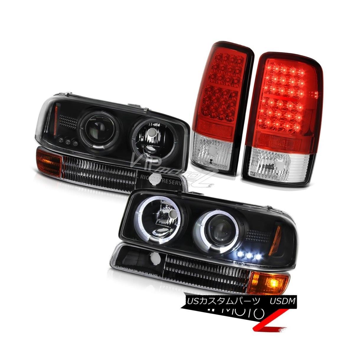 テールライト 00-06 Yukon Halo LED Projector Headlights Parking Signal Bumper SMD Tail Lights 00-06ユーコンヘイローLEDプロジェクターヘッドライトパーキング信号バンパーSMDテールライト