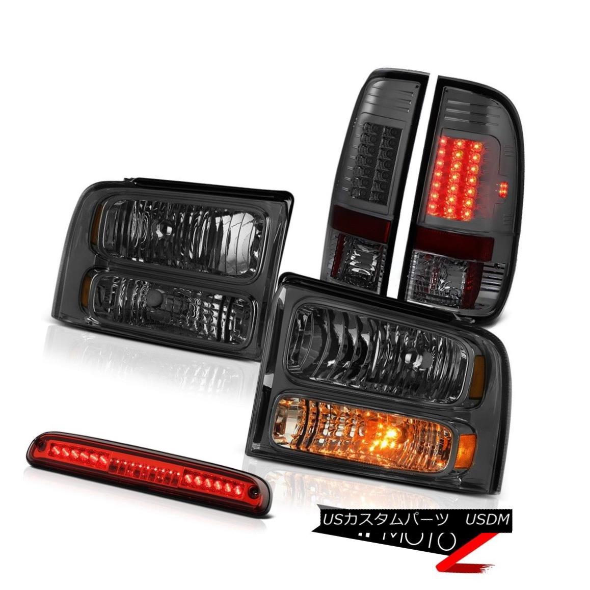テールライト 2005 2006 2007 F350 Highline Dark Front Headlights Tint LED Brake Lights Red 3rd 2005年2006年2007年F350ハイライトダークフロントヘッドライト色合いLEDブレーキライト赤色第3