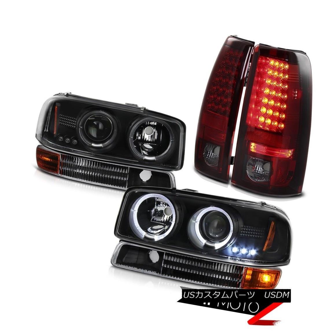 テールライト 04-06 Sierra 6.0L V8 DRL LED Projector Headlights Bumper SMD Rear Tail Lamps 04-06 Sierra 6.0L V8 DRL LEDプロジェクターヘッドライトバンパーSMDリアテールランプ