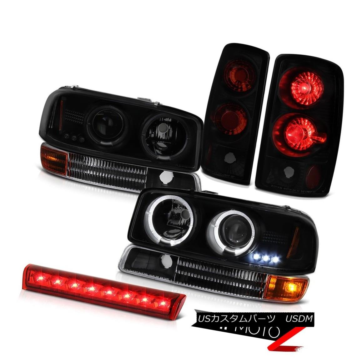 テールライト 00-06 Yukon XL 5.3L Halo SINSTER BLACK Headlight Signal Tail Light High Stop LED 00-06ユーコンXL 5.3L Halo SINSTER BLACKヘッドライト信号テールライトハイストップLED