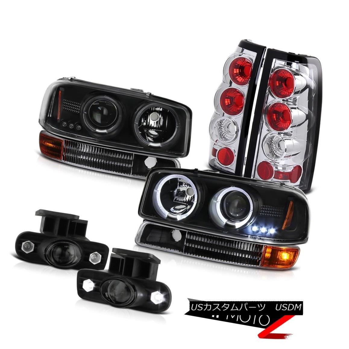 テールライト 1999-2003 Sierra 6.0L V8 Halo Headlights Signal Rear Brake Lights Projector Fog 1999-2003 Sierra 6.0L V8 Haloヘッドライトシグナルリアブレーキライトプロジェクターフォグ